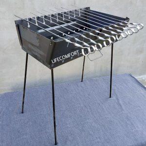 Мангал для шашлыков 2мм*10шампуров