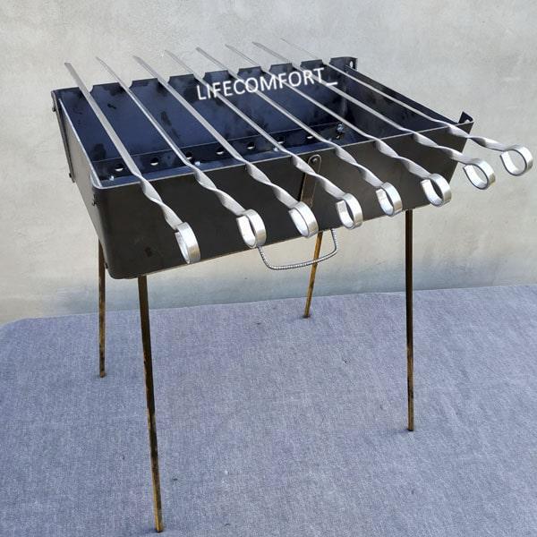 Мангал для шашлыков 3мм*8шампуров
