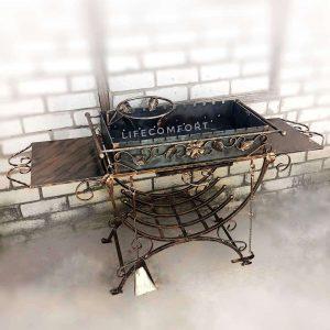 Мангал стационарный кованый 3*10 декор стационарный