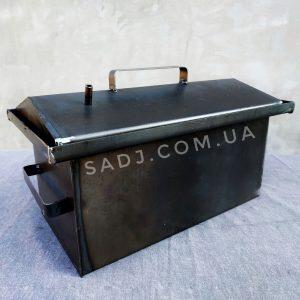 Коптильня с гидрозатвором 1мм 40см и крышкой домиком для горячего копчения