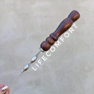 Шампура 3-12 мм с деревянной ручкой