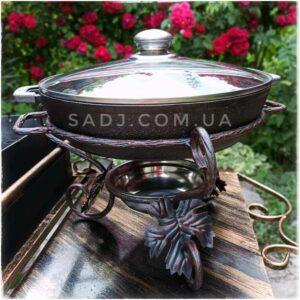 Садж Ковка с чугунной сковородкой 28см