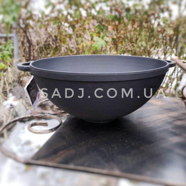 Казан чугунный WOK с крышкой сковородой 5,5л Ситон