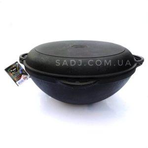 Казан азиатский чугунный 12л с крышкой сковородой Ситон