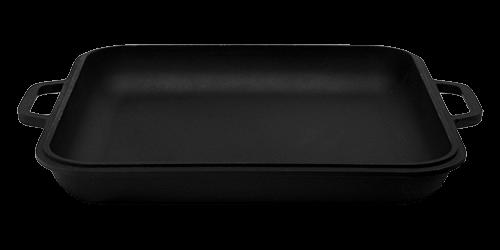 Крышка сковорода чугунная 280*280 Ситон с боковыми ручками