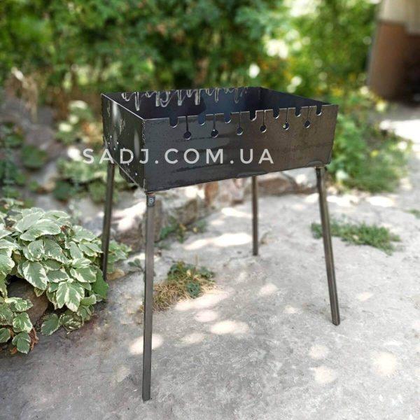 Мангал для шашлыков 3мм 7шампуров. Складной мангал коробок, съемные ножки