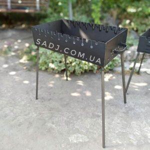 Мангал для шашлыков 3мм 9шампуров. Складной мангал коробок, съемные ножки
