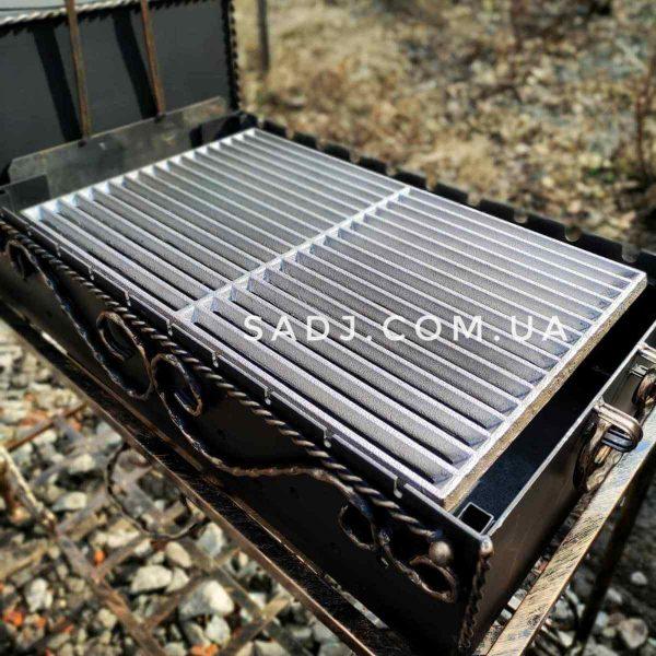 Решетка чугунная 32х51 см для гриля барбекю
