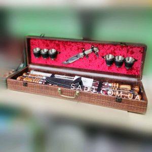 Подарочный набор шампуров в кейсе Кардинал
